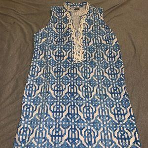 Patterned Blue Dress